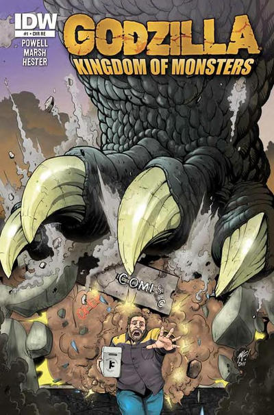 Cover for Godzilla: Kingdom of Monsters (2011 series) #1 [Happy Harbor Comics Cover]