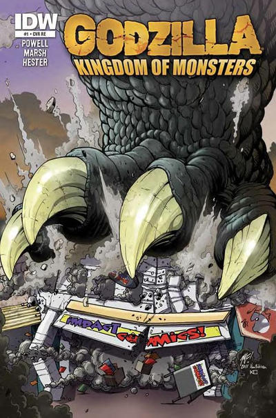 Cover for Godzilla: Kingdom of Monsters (2011 series) #1 [Zombie Planet Cover]
