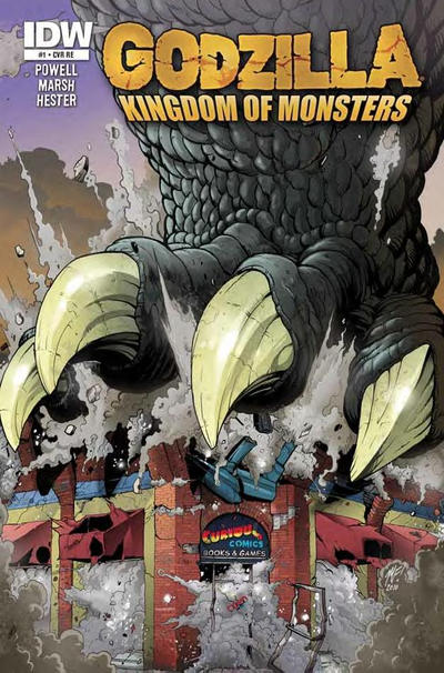 Cover for Godzilla: Kingdom of Monsters (2011 series) #1 [Keith's Comics Cover]