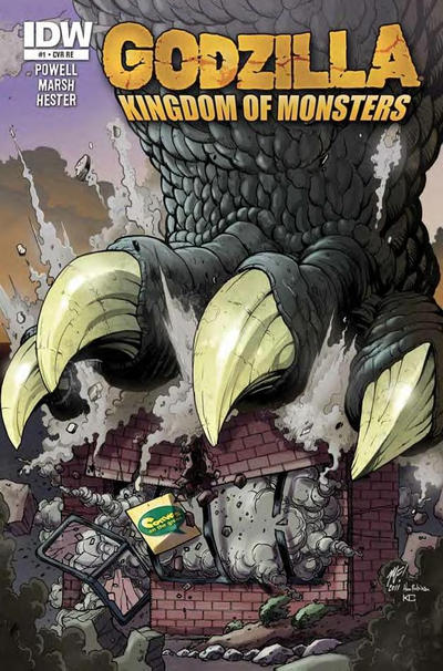 Cover for Godzilla: Kingdom of Monsters (2011 series) #1 [Strange Adventures Comic Book Shop (Halifax) Cover]