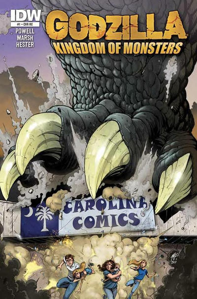 Cover for Godzilla: Kingdom of Monsters (2011 series) #1 [Toy Traders Cover]