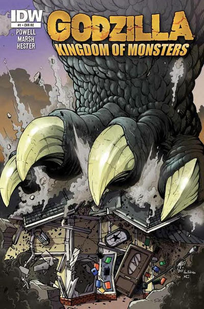 Cover for Godzilla: Kingdom of Monsters (IDW, 2011 series) #1 [Zombie Planet Cover]