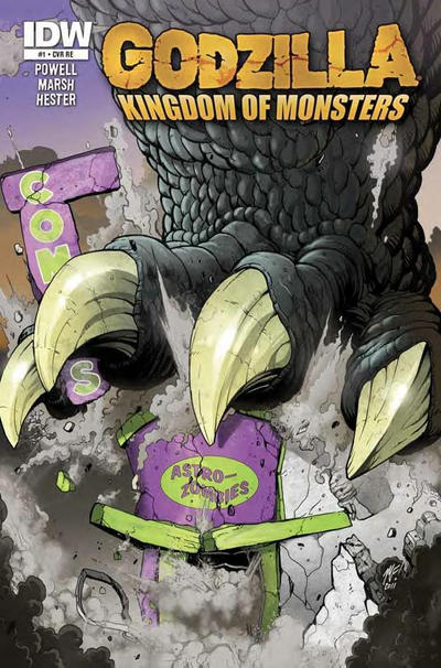 Cover for Godzilla: Kingdom of Monsters (2011 series) #1 [Midtown Comics Cover]