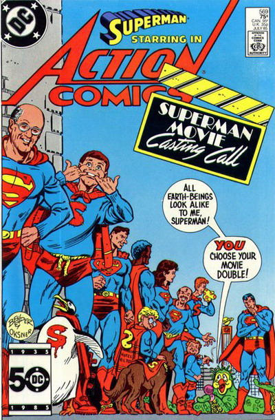 Cover for Action Comics (DC, 1938 series) #569 [Direct]