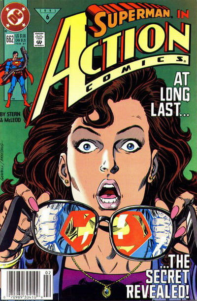Cover for Action Comics (DC, 1938 series) #662 [Newsstand]