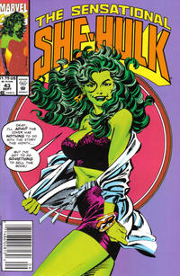Cover Thumbnail for The Sensational She-Hulk (Marvel, 1989 series) #43 [Newsstand Edition]