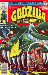 Cover for Godzilla (Marvel, 1977 series) #3 [35 cent cover price variant]
