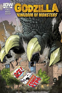 Cover for Godzilla: Kingdom of Monsters (2011 series) #1 [Carolina Comics Cover]