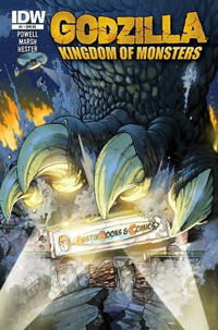 Cover for Godzilla: Kingdom of Monsters (IDW, 2011 series) #1 [Lone Star Comics Cover]