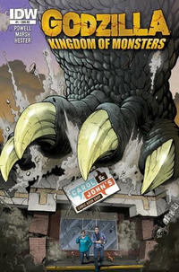 Cover Thumbnail for Godzilla: Kingdom of Monsters (IDW Publishing, 2011 series) #1 [Second Printing: Carol & John's Comic Book Shop Cover]