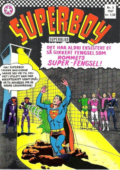 Cover for Superboy (Se-Bladene - Stabenfeldt, 1967 series) #5/1967