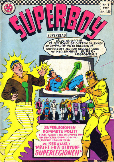Cover for Superboy (Se-Bladene - Stabenfeldt, 1967 series) #4/1967