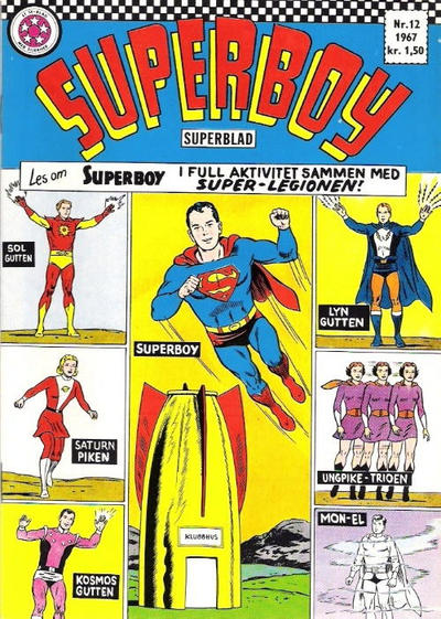 Cover for Superboy (Se-Bladene - Stabenfeldt, 1967 series) #12/1967