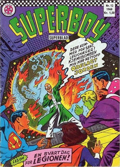 Cover for Superboy (Serieforlaget / Se-Bladene / Stabenfeldt, 1967 series) #12/1968