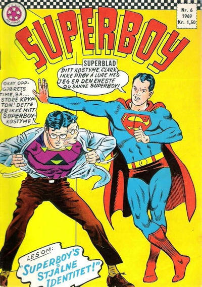 Cover for Superboy (1967 series) #6/1969