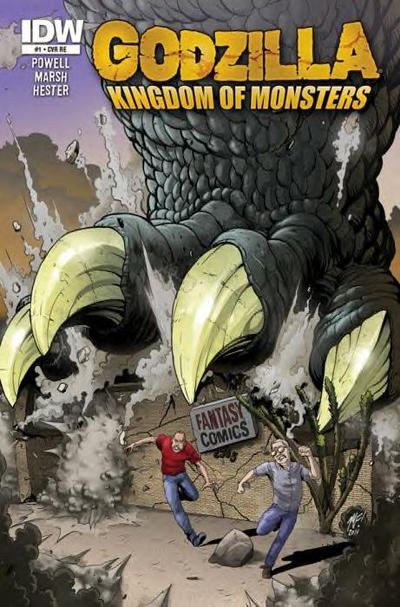 Cover for Godzilla: Kingdom of Monsters (2011 series) #1 [Lone Star Comics Cover]