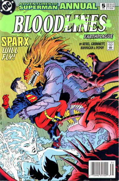 Cover for Adventures of Superman Annual (DC, 1987 series) #5 [Newsstand]