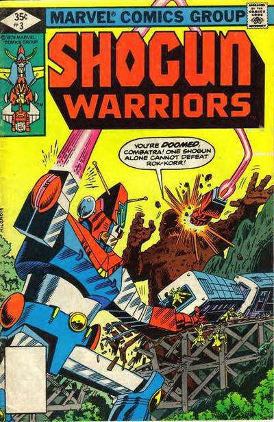 Cover for Shogun Warriors (1979 series) #3 [Newsstand]