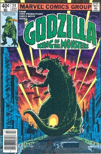 Cover for Godzilla (Marvel, 1977 series) #24 [direct edition]