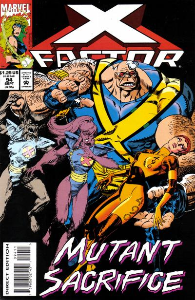 Cover for X-Factor (1986 series) #94 [Direct Edition]