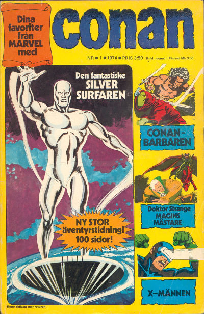 Cover for Conan (Semic, 1973 series) #1/1974