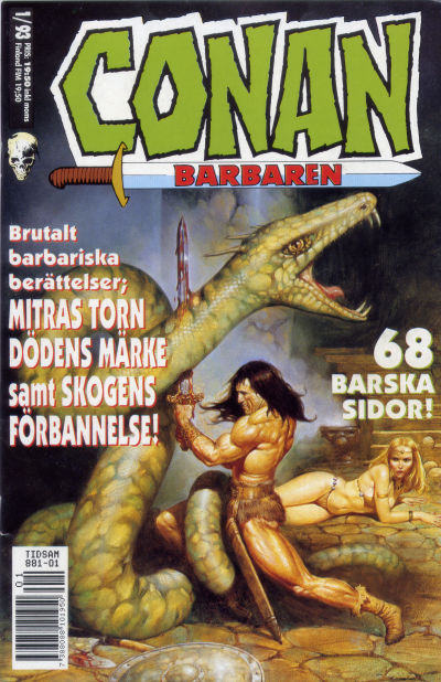 Cover for Conan (1990 series) #1/1993