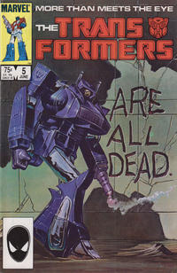Cover for The Transformers (1984 series) #5 [Newsstand Edition]
