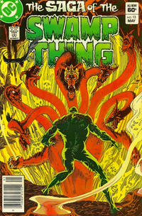 Cover for The Saga of Swamp Thing (1982 series) #13 [Canadian Price Variant]