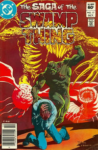 Cover Thumbnail for The Saga of Swamp Thing (DC, 1982 series) #17 [Newsstand]