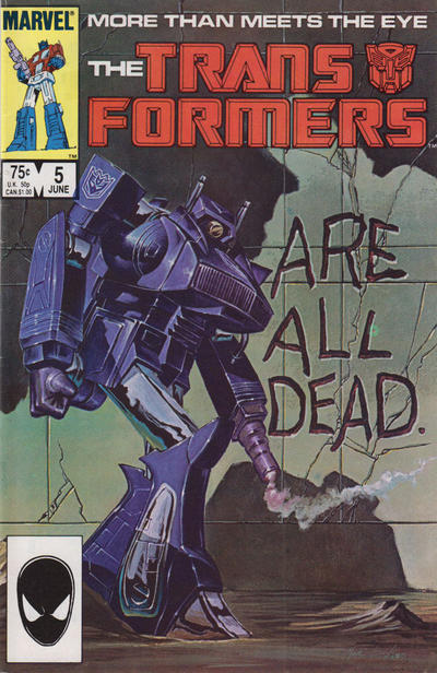 Cover for The Transformers (Marvel, 1984 series) #5 [Newsstand Edition]