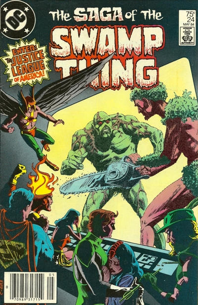Cover for The Saga of Swamp Thing (DC, 1982 series) #24 [Direct]