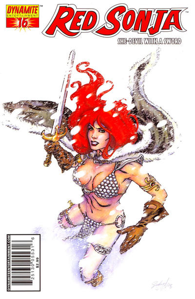 Cover for Red Sonja (Dynamite Entertainment, 2005 series) #16 [Mel Rubi Retailer Incentive Sketch Cover]