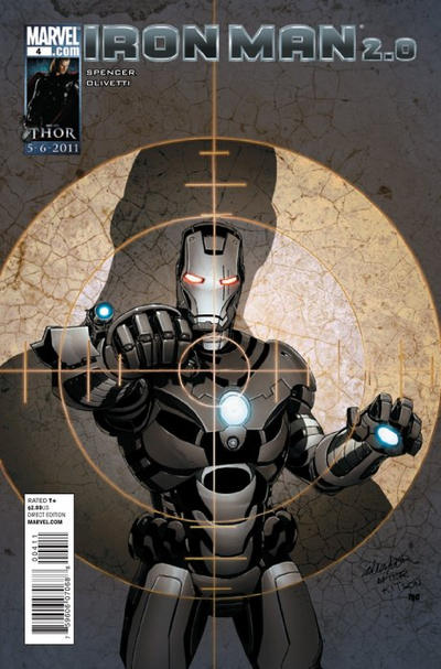 Cover for Iron Man 2.0 (Marvel, 2011 series) #4 [Thor Goes Hollywood Variant Edition]