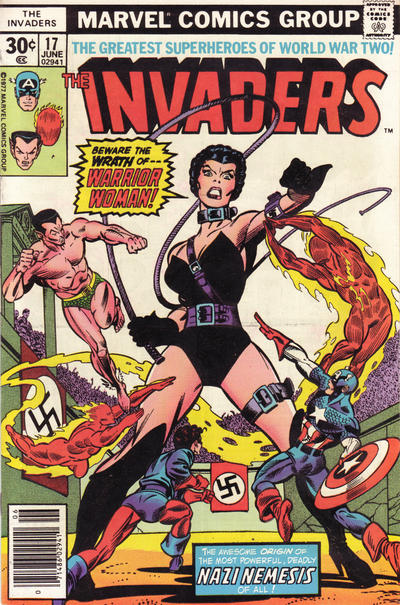 Cover for The Invaders (Marvel, 1975 series) #17 [35 cent cover price variant]