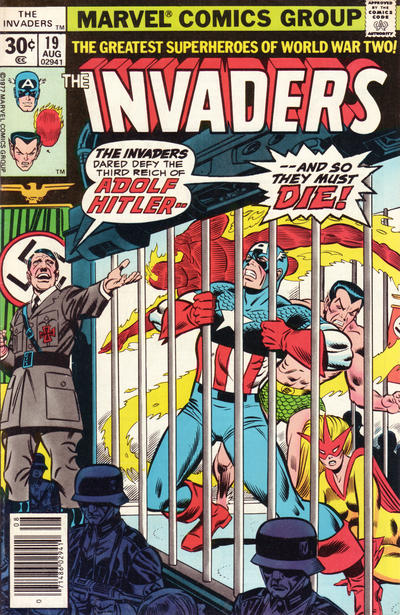 Cover for The Invaders (1975 series) #19 [35 cent cover price variant]