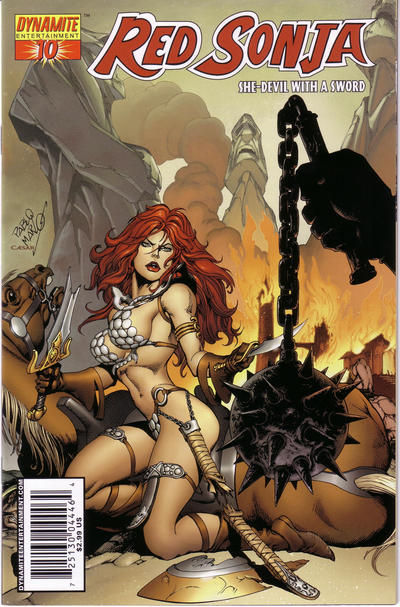 Cover for Red Sonja (Dynamite Entertainment, 2005 series) #10 [Joe Benitez Cover]