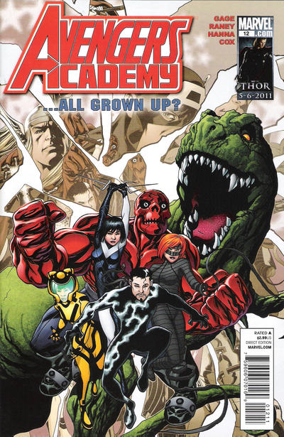 Cover for Avengers Academy (Marvel, 2010 series) #12