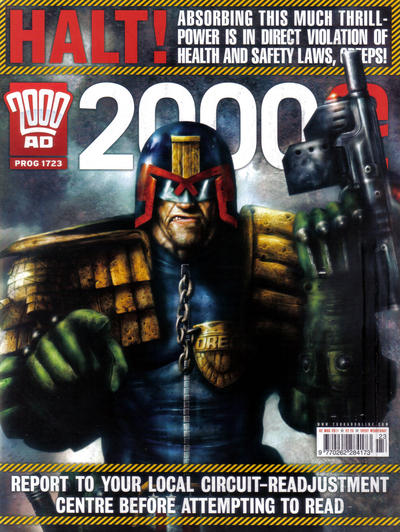 Cover for 2000 AD (Rebellion, 2001 series) #1723