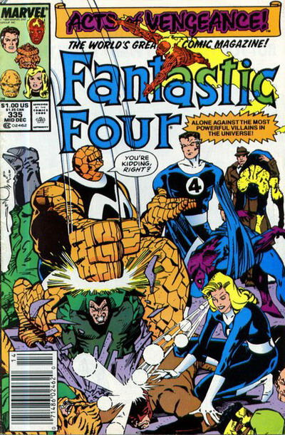 Cover for Fantastic Four (Marvel, 1961 series) #335 [Direct Edition]