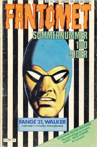 Cover for Fantomet (Semic, 1976 series) #14/1980