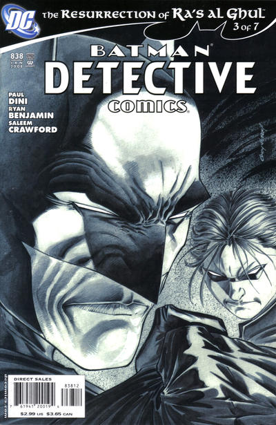 Cover for Detective Comics (DC, 1937 series) #838 [1st Print Direct]