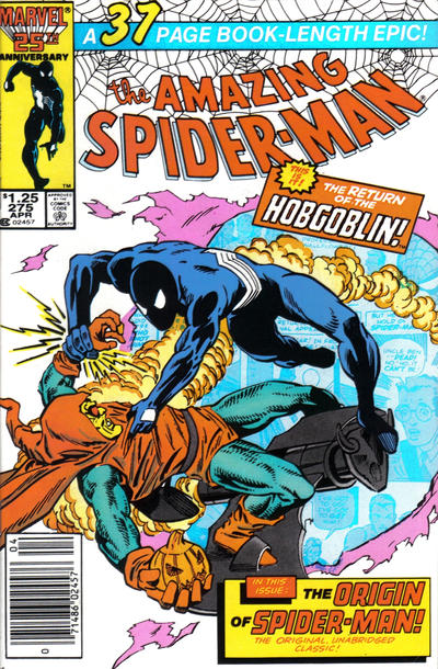 Cover for The Amazing Spider-Man (Marvel, 1963 series) #275 [Direct Edition]