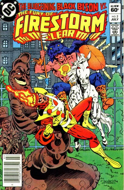 Cover for The Fury of Firestorm (1982 series) #2 [Direct]