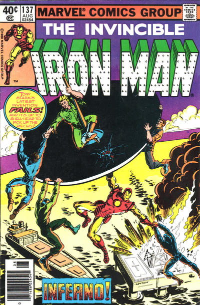 Cover for Iron Man (Marvel, 1968 series) #137