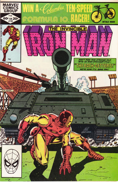 Cover for Iron Man (Marvel, 1968 series) #155 [direct edition]