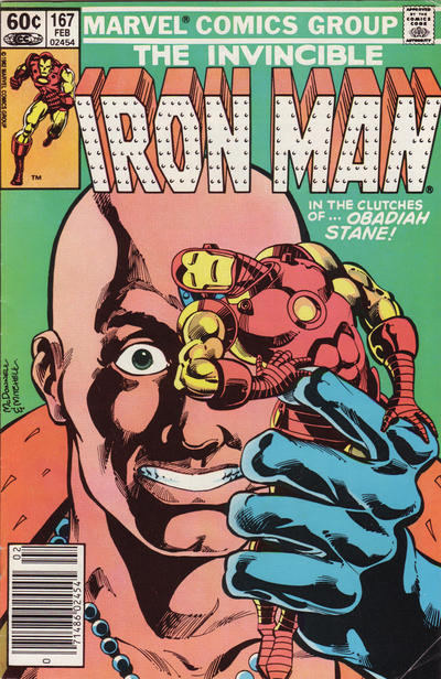 Cover for Iron Man (1968 series) #167 [Newsstand]