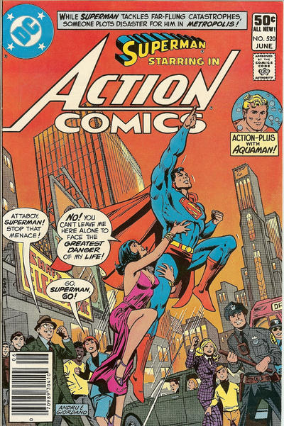 Cover for Action Comics (DC, 1938 series) #520 [Direct]