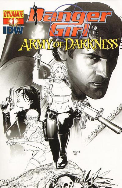 Cover for Danger Girl and the Army of Darkness (Dynamite Entertainment, 2011 series) #1 [J. Scott Campbell Dangerous Red Retailer Incentive Cover]