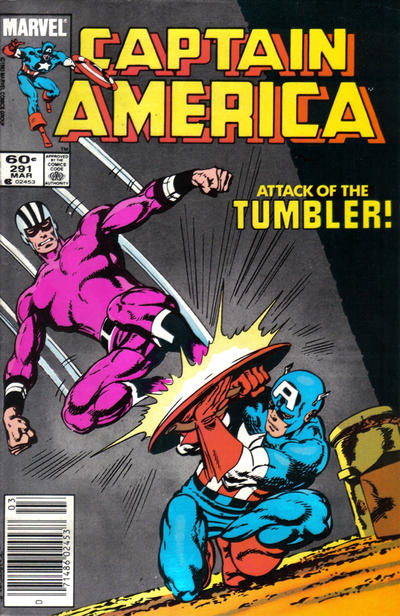 Cover for Captain America (Marvel, 1968 series) #291 [Newsstand Edition]