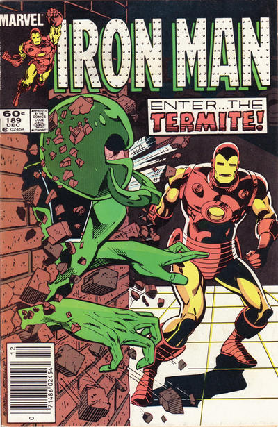 Cover for Iron Man (1968 series) #189 [Newsstand]